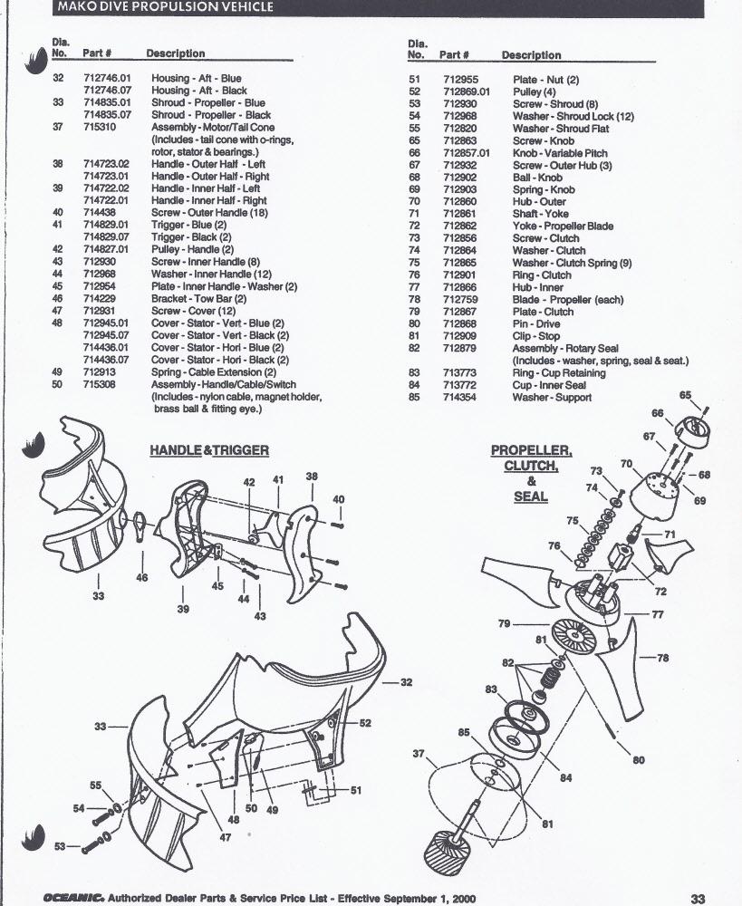 mako parts list 2